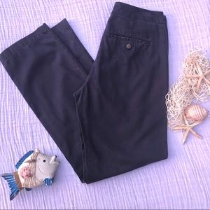 Gap, dark navy, low rise, slim straight leg pants